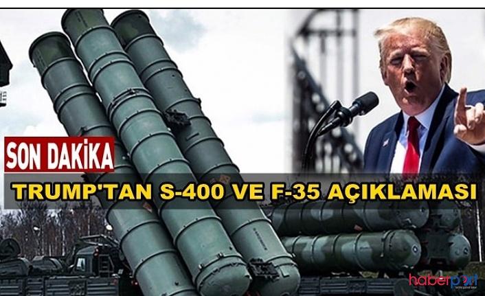 ABD Başkanı Trump'tan flaş S-400 ve F-35 açıklaması! Türkiye daha fazla F-35 alamayacak