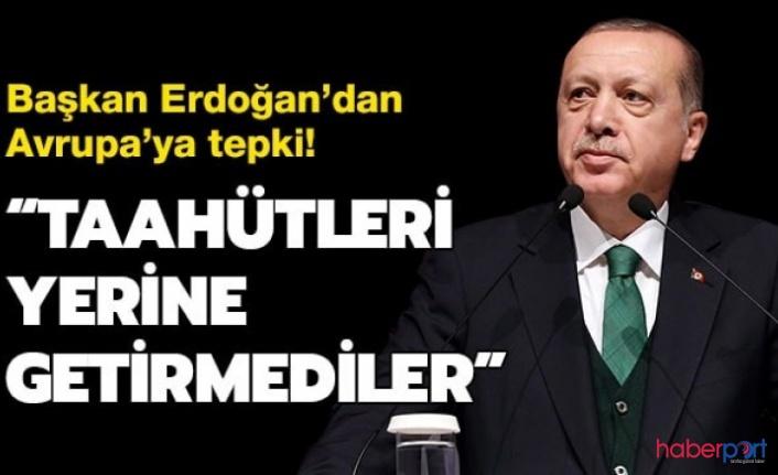 Bosna Hersek'te bulunan Erdoğan sığınmacılarla ilgili konuştu 'Avrupa'dan destek göremedik'