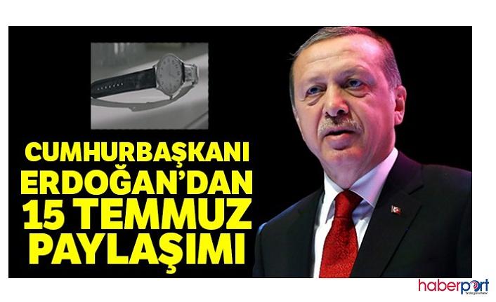 Cumhurbaşkanı Recep Tayyip Erdoğan'dan 15 Temmuz'u anma paylaşımı; unutmayacağız, unutturmayacağız!