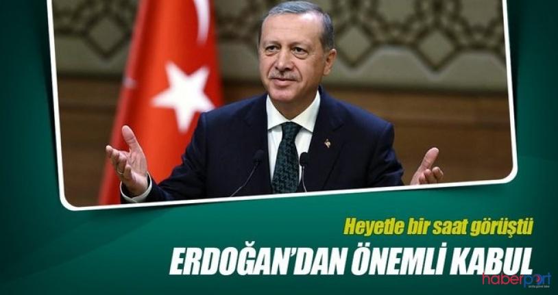 Cumhurbaşkanı Recep Tayyip Erdoğan, Iraklı üst düzey yetkilileri Külliyede kabul etti