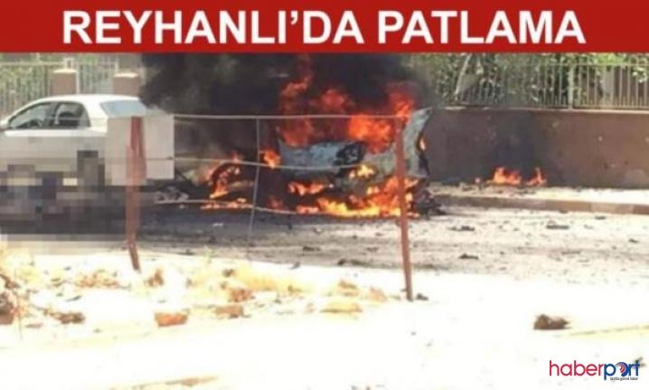Hatay Reyhanlı'da bomba yüklü araç infilak etti! 3 Suriyeli öldü