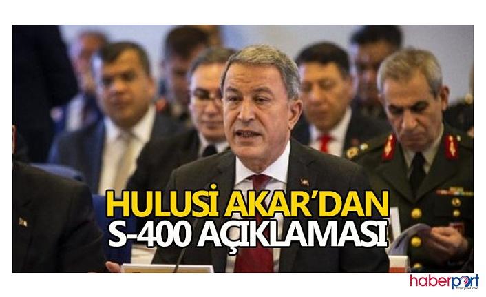 Milli Savunma Bakanı Hulusi Akar; S-400'lerde üç uçak planı tamam süreç devam edecek!