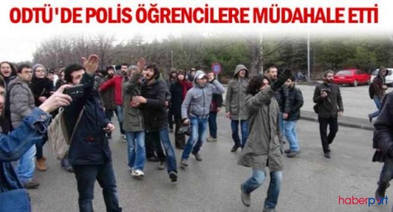 ODTÜ'de KYK eylemi yapan öğencilere polis müdahalesi!