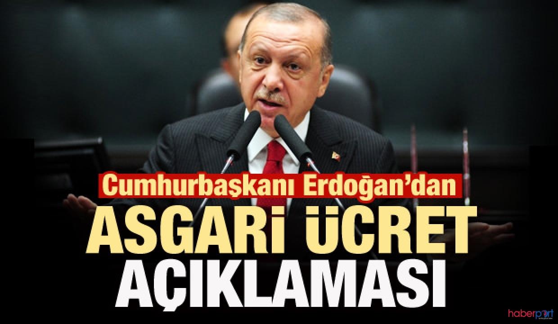 Cumhurbaşkanı Erdoğan, 2020 asgari ücreti değerlendirdi; 3 puan artış yapıldı