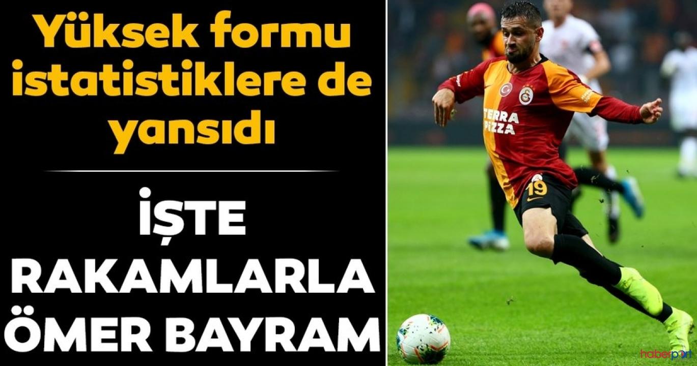 Galatasaray'da Ömer Bayram fark yarattı