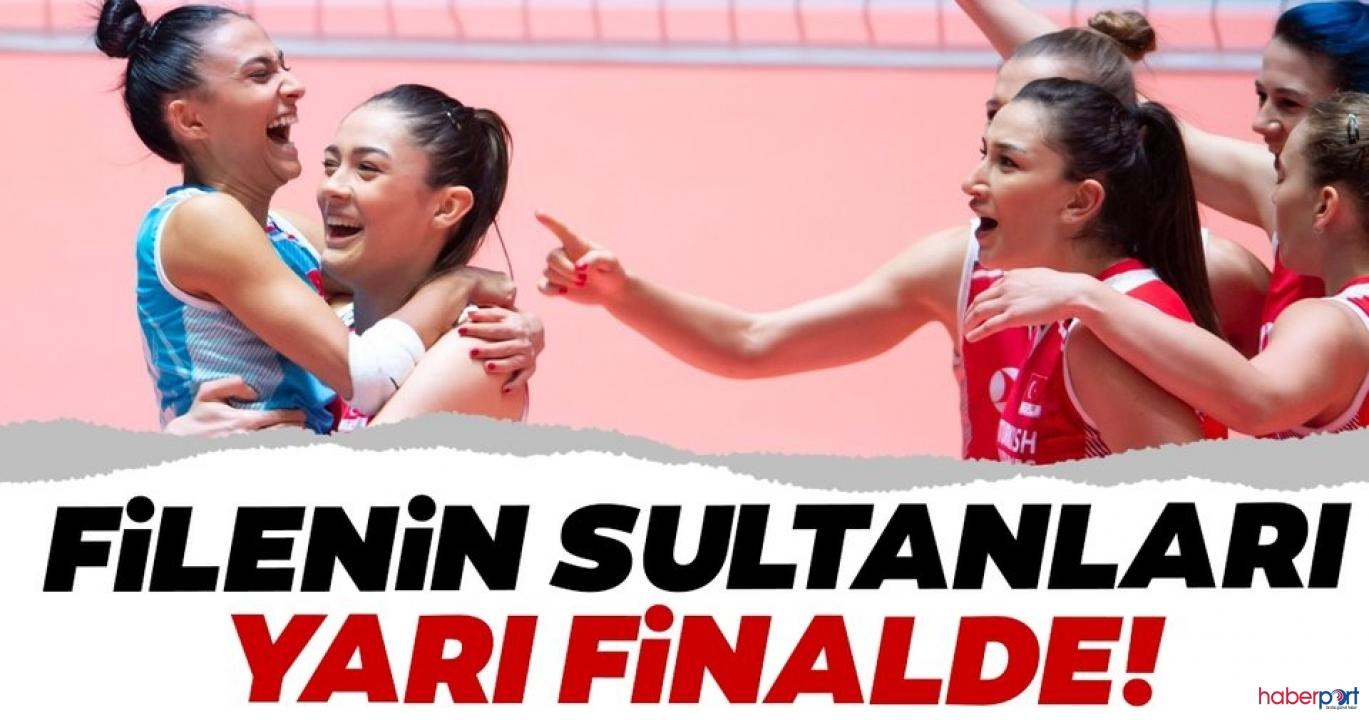 Belçika'yı 3-2 yenen Filenin Sultanları yarı finale yükseldi