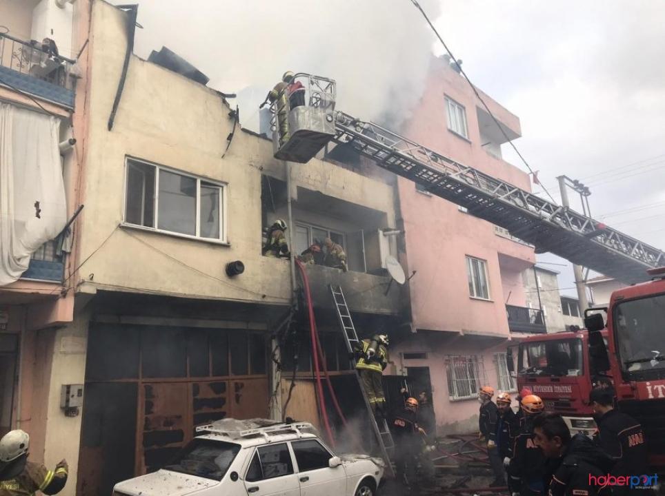 Bursa Osmangazi'de yaşayan yaşlı çifti yangın ayırdı!