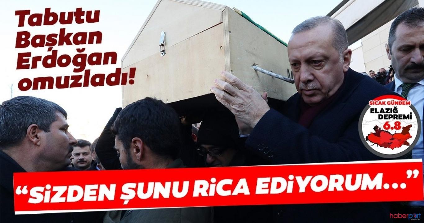 Cumhurbaşkanı Erdoğan afet bölgesi Elazığ'da