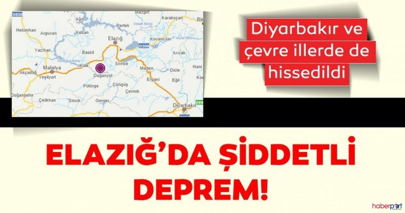 Elazığ'nın Sivrice ilçesi çok şiddetli sallandı! Deprem 6.8 olarak ölçüldü