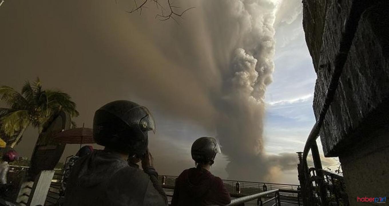 Filipinler'de yanardağ patladı THY uçuşları iptal etti