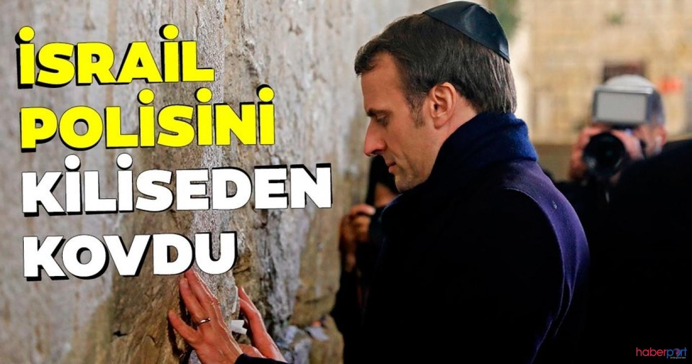 Fransa Cumhurbaşkanı Macron ile İsrail polisi arasında gerginlik!
