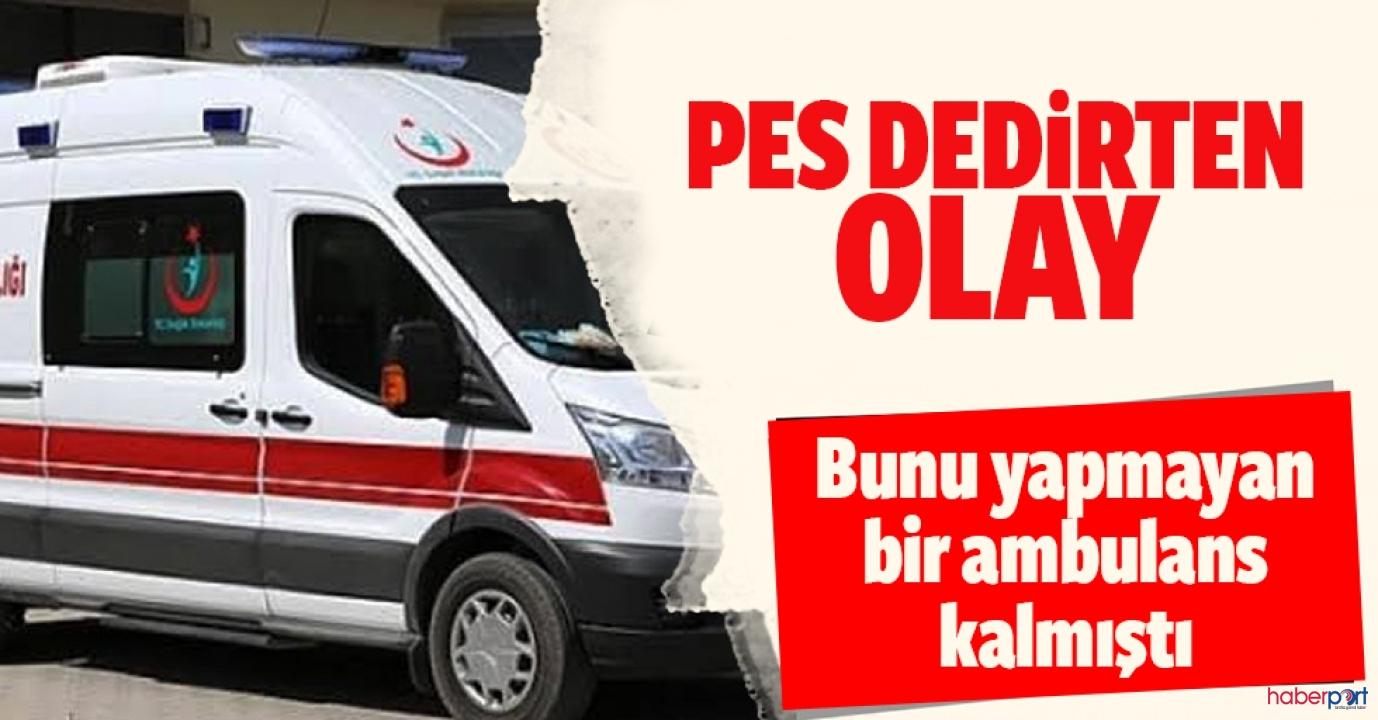 Hakkari'de drift yapan ambulans ekibine soruşturma