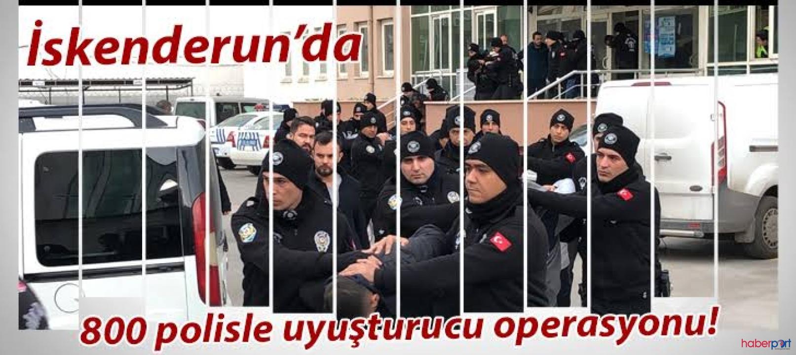 Hatay'da 800 polisle uyuşturucu tacirlerine baskın! 23 gözaltı