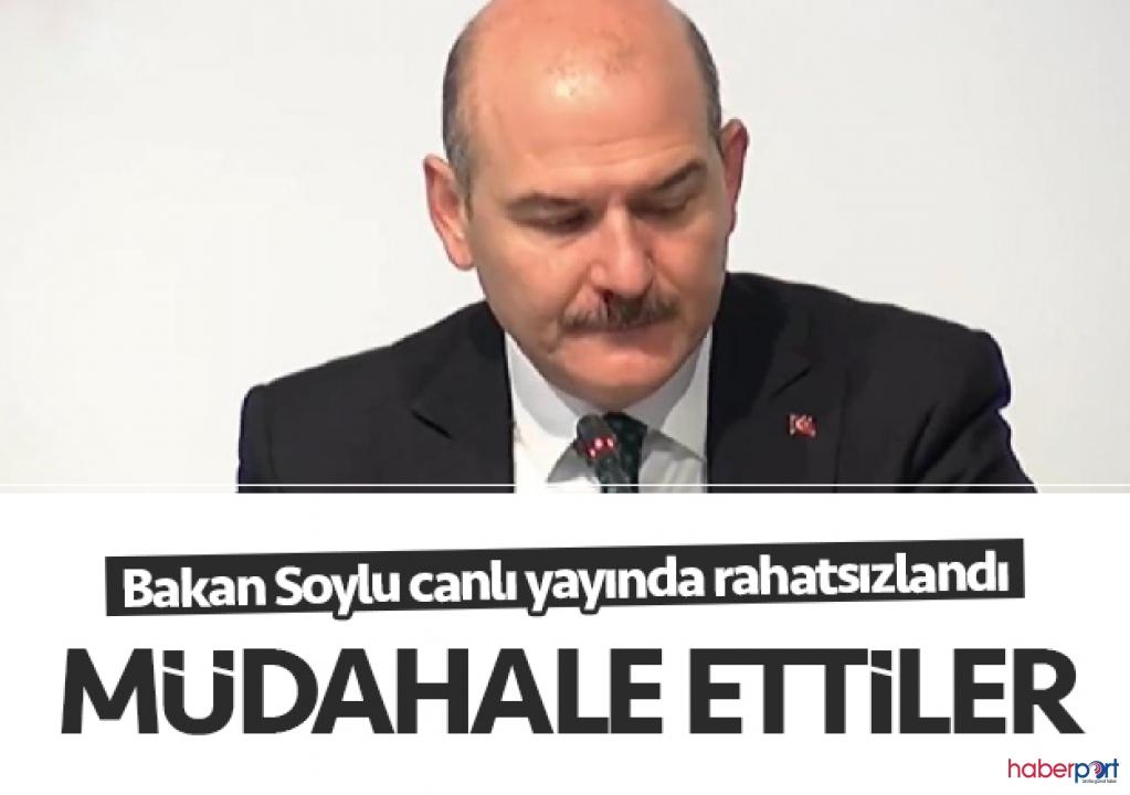 İçişleri Bakanı Süleyman Soylu canlı yayında aniden rahatsızlandı