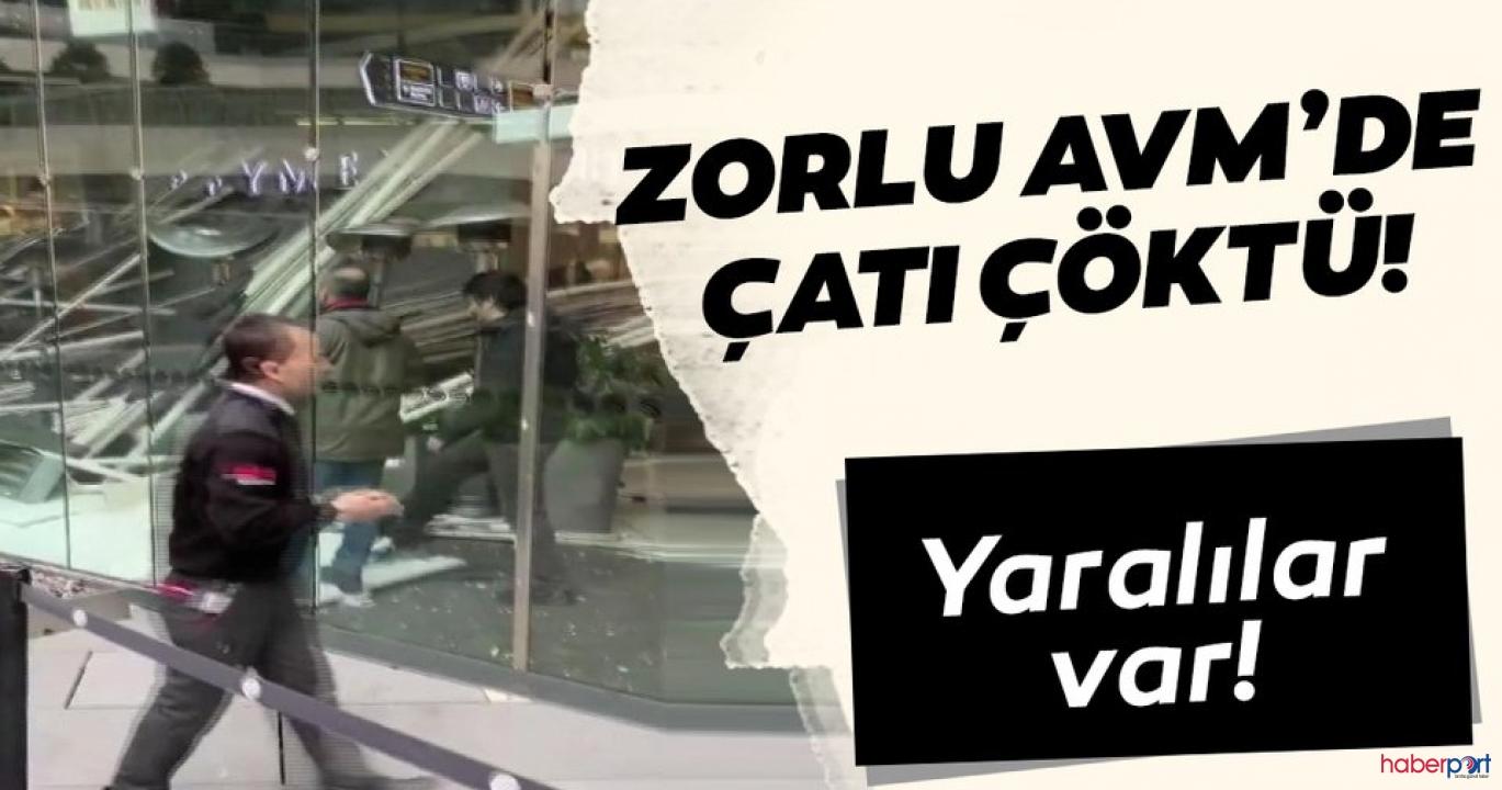 İstanbul'da bir AVM'de asma tavan, kafede oturanların üzerine çöktü