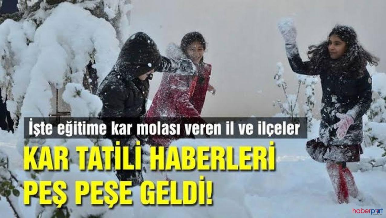 Kar alarmı verildi! Valilikler açıklama yapıyor, Hangi illerde okullar tatil olacak?