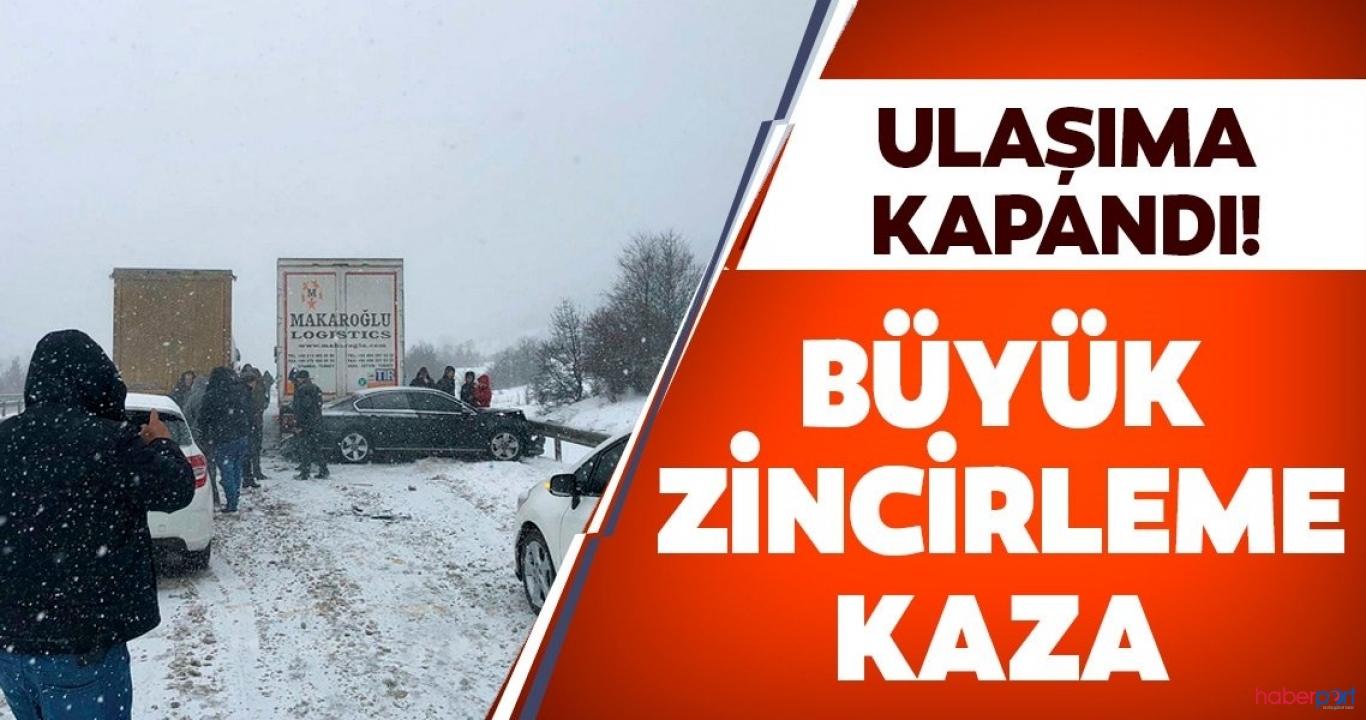 Karabük-Gerede kara yolunda zincirleme kaza! D-100 trafiği kilitlendi