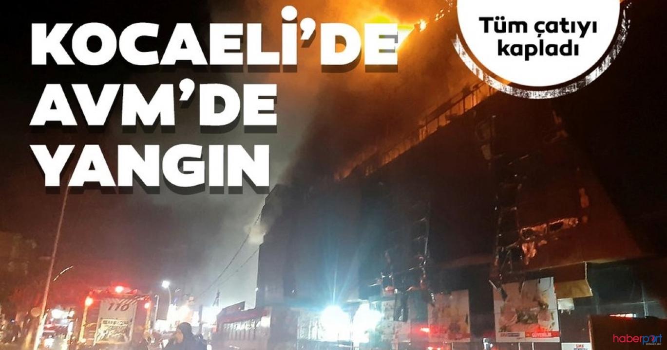 Kocaeli'de 4 saatte söndürülen AVM yangınında büyük hasar
