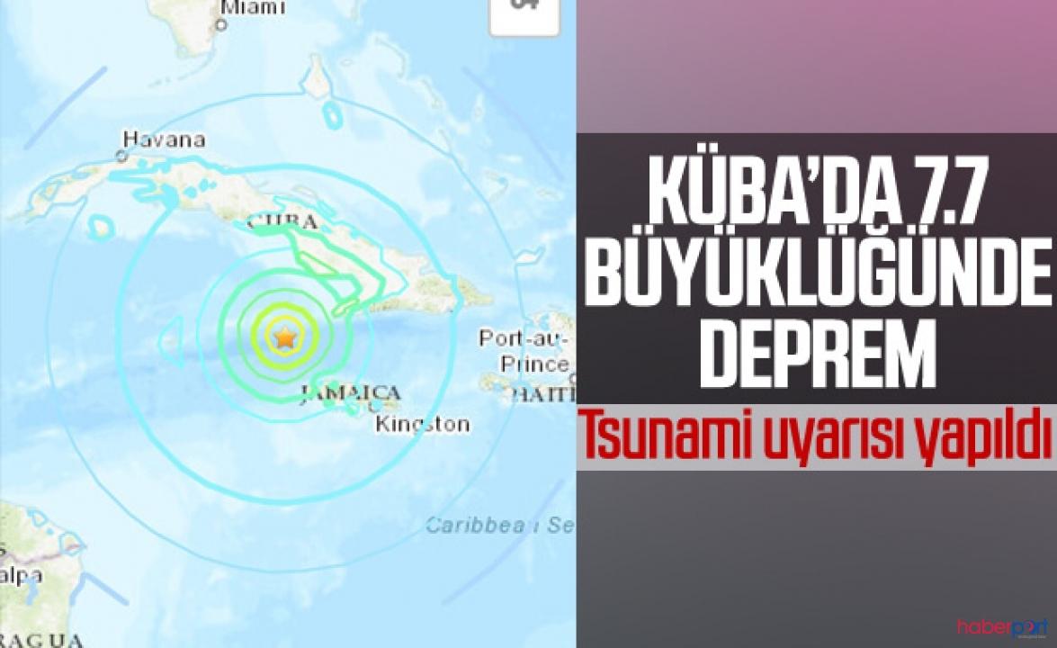 Küba'daki depremin şiddeti 7.7 ölçüldü, 3 ülkede tsunami alarmı verildi