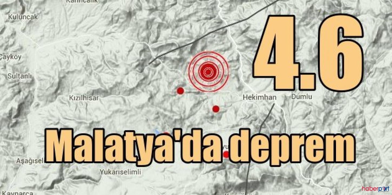 Malatya 4.6 büyüklüğünde sallandı