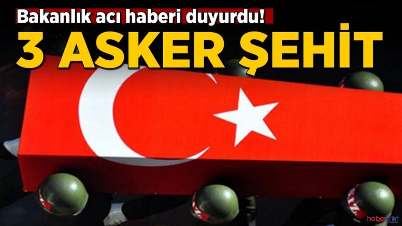 MSB son dakika olarak duyurdu! Barış Pınarı Bölgesi'nden 3 asker şehit düştü