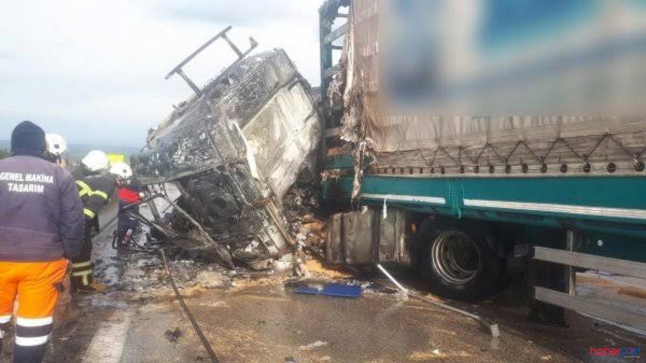 Osmaniye'de korkunç kaza! TIR'dan çıkamayan sürücü yanarak öldü