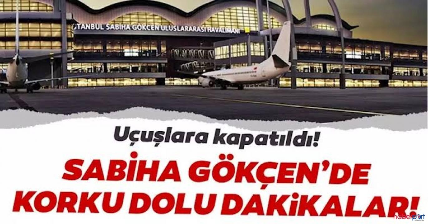 Pegasus Havayolları'na ait uçak Sabiha Gökçen'de pistten çıktı; Uçuşlar iptal edildi!