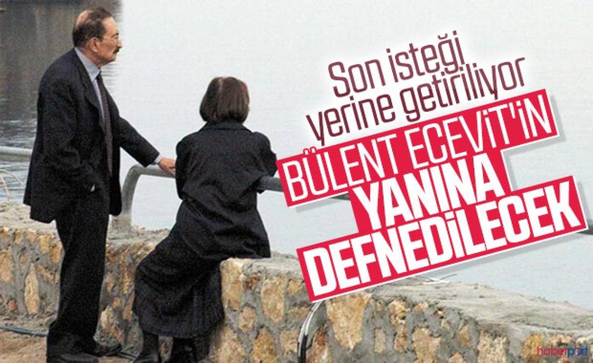 Rahşan Ecevit'in vasiyeti gerçekleşti; Eşi Bülent Ecevit'in yanına defnedilecek