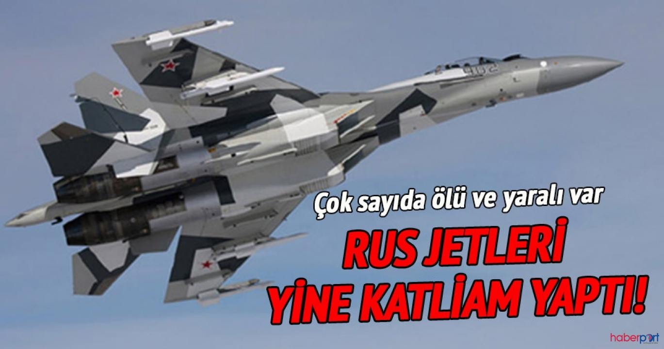 Rus savaş uçakları İdlib'de katliam yaptı; 12 sivil öldü