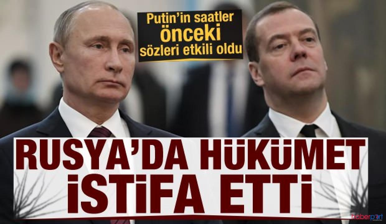 Rusya'da Hükümet istifa etti! Putin Başbakanlık için Mihail Mişustin ile görüştü