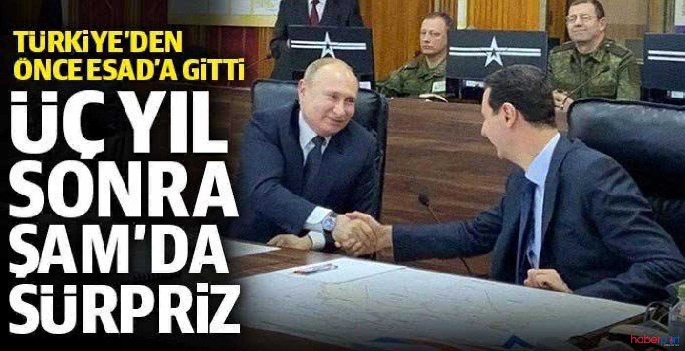 Rusya lideri Putin, Türkiye ziyareti öncesinde Beşar Esad ile görüştü