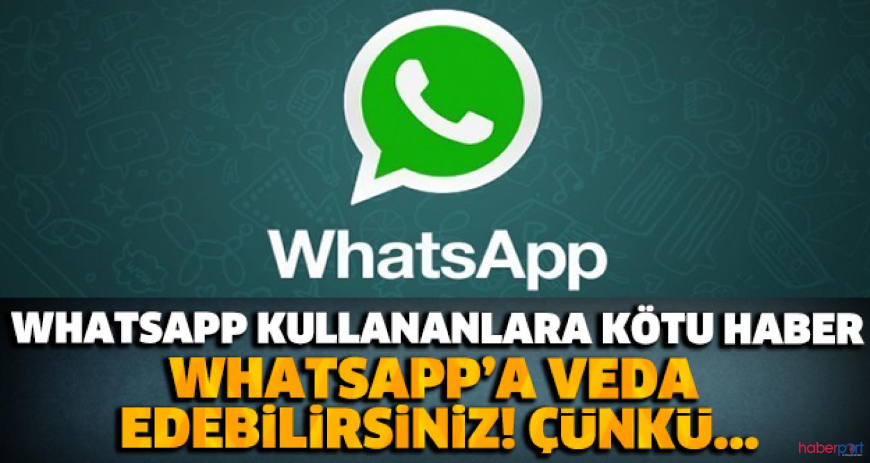 Whatsapp veda ediyor