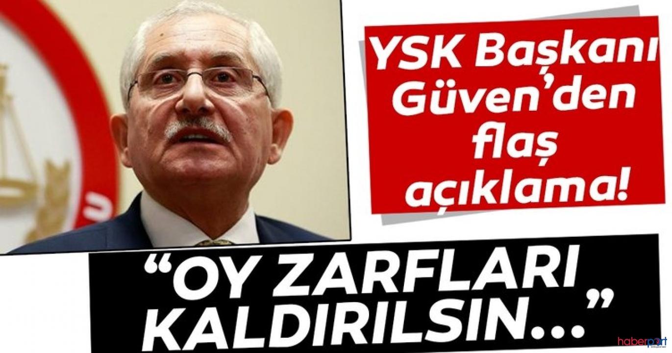 YSK Başkanı Sadi Güven'den yeni seçim sistemi; Oy zarfları kaldırılmalı!
