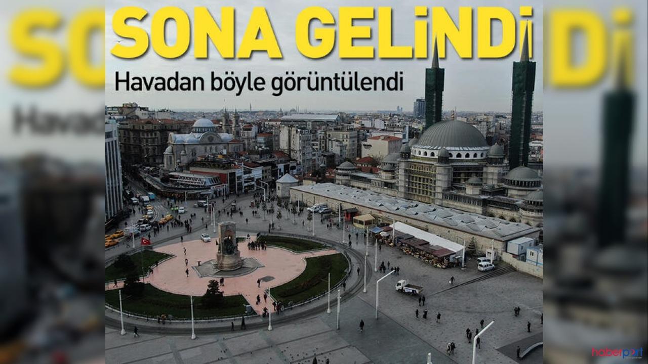 2 bin 575 kişilik Taksim Camii'si inşaatında sona gelindi