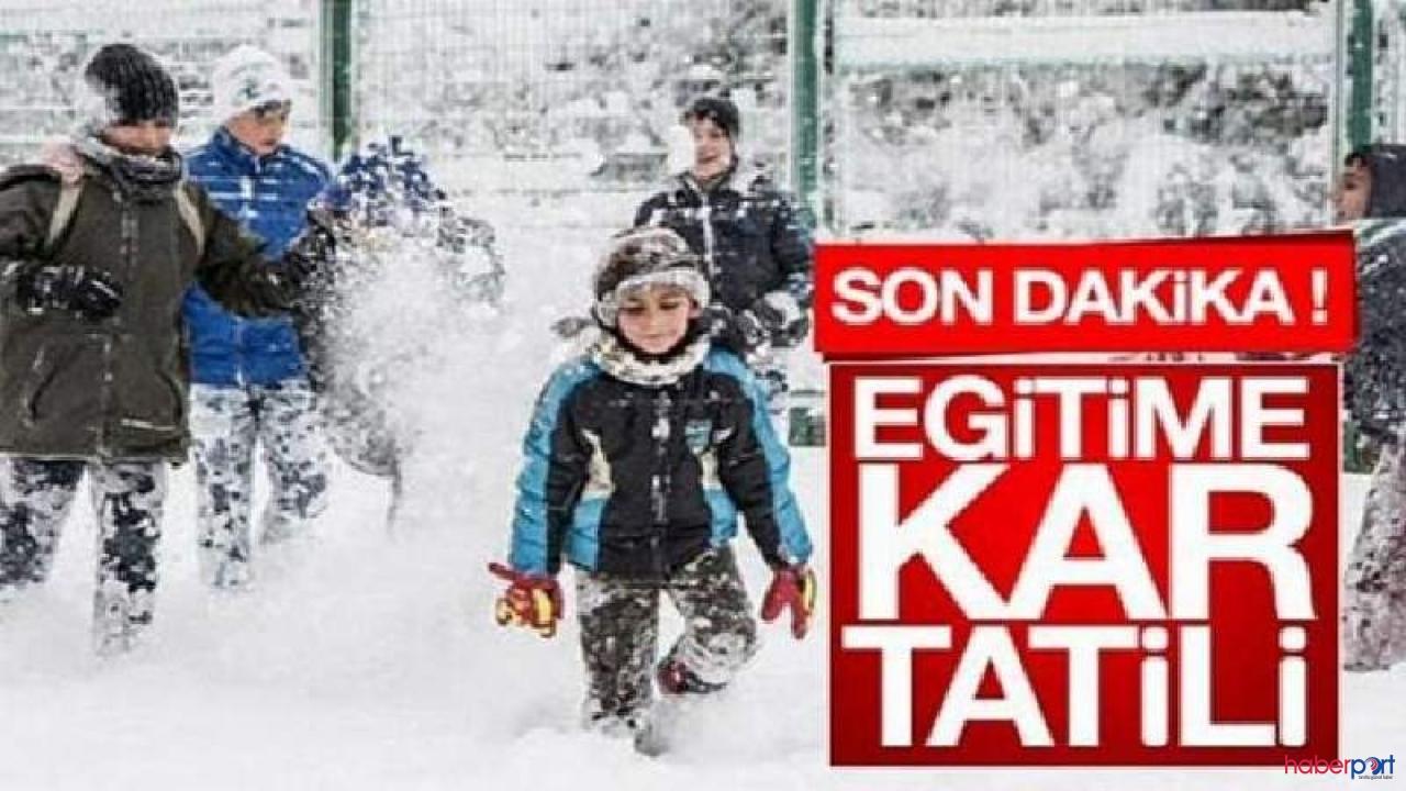 4 ilde kar tatili! İlçelerde de eğitime ara verildi