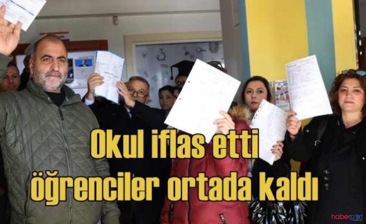 Adana'da özel okuldaki ekonomik kriz iflasa neden oldu