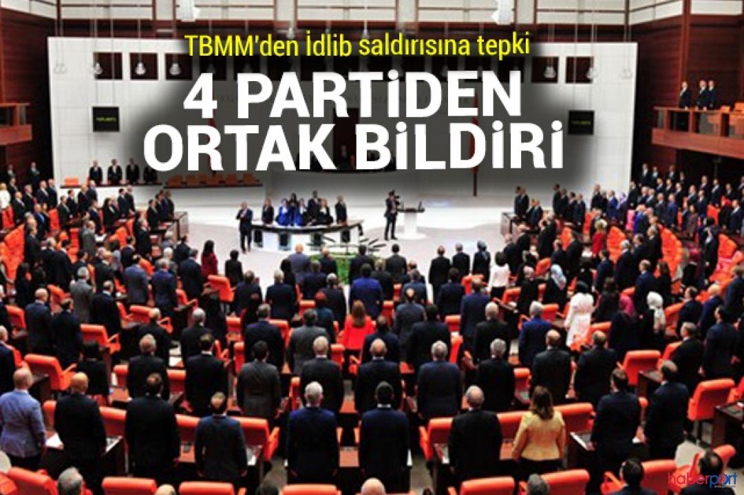 AKP, CHP, MHP ve İYİ Parti'den İdlib için ortak bildiri