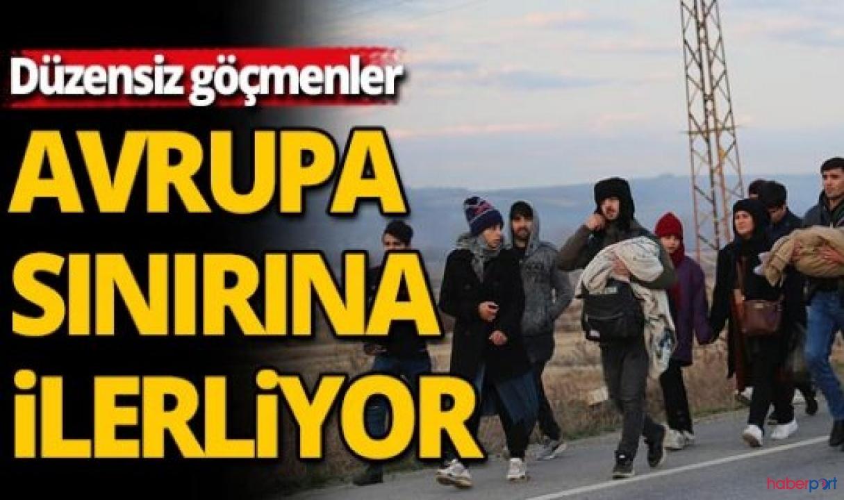 Avrupa'ya çıkış izni verilen göçmenler sınırlara doğru ilerliyorlar