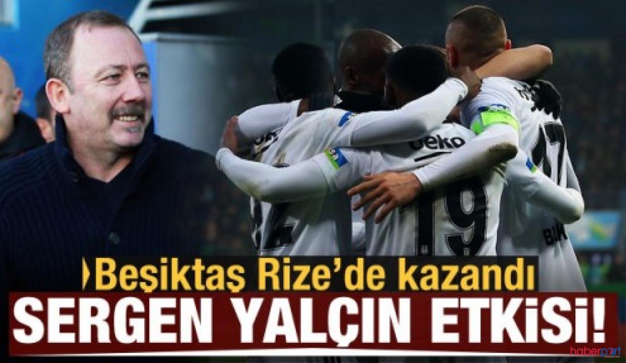 Beşiktaş Rizespor deplasmanından 3 puanla ayrıldı