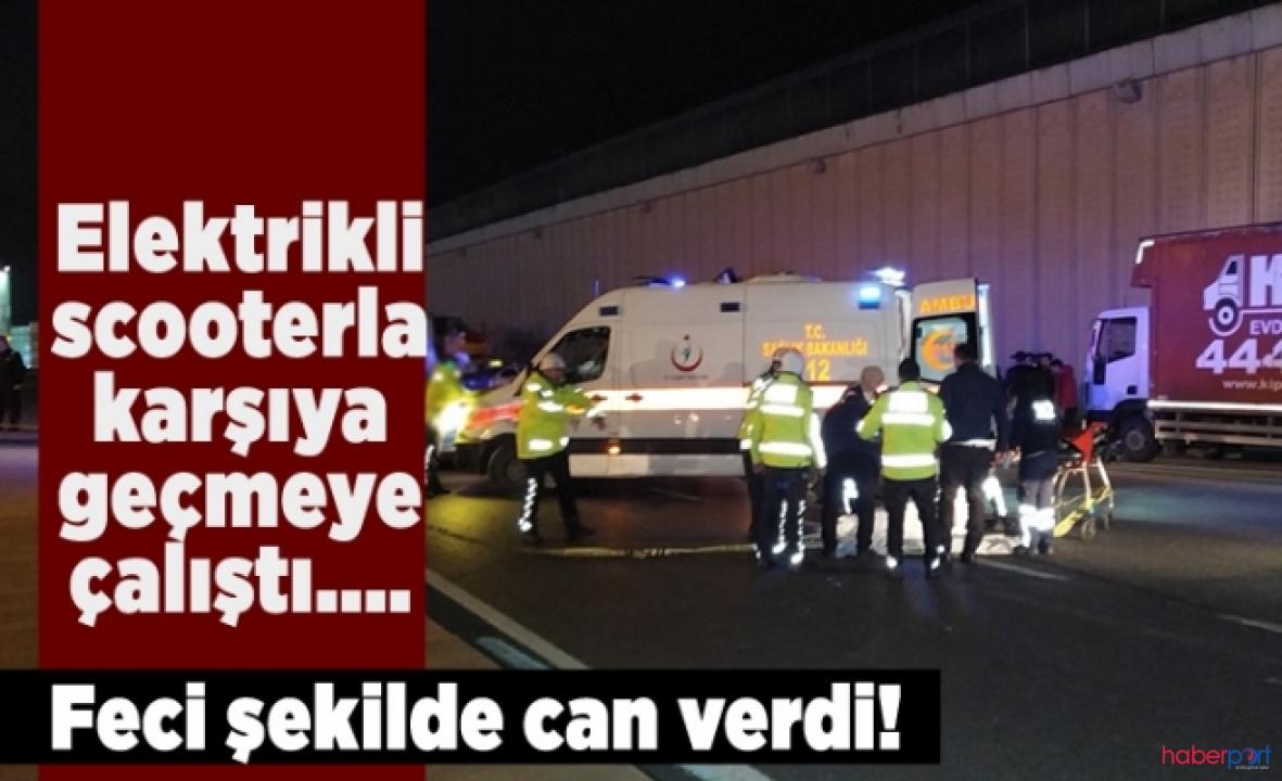 Beşiktaş'ta elektrikli scooter can aldı!