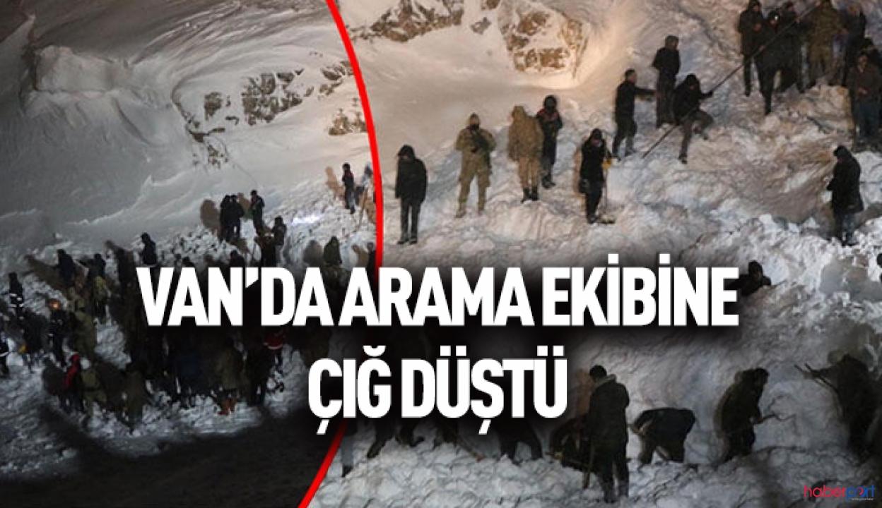 Çığ bölgesindeki kurtarma ekipleri kar kütlesinin altında kaldı