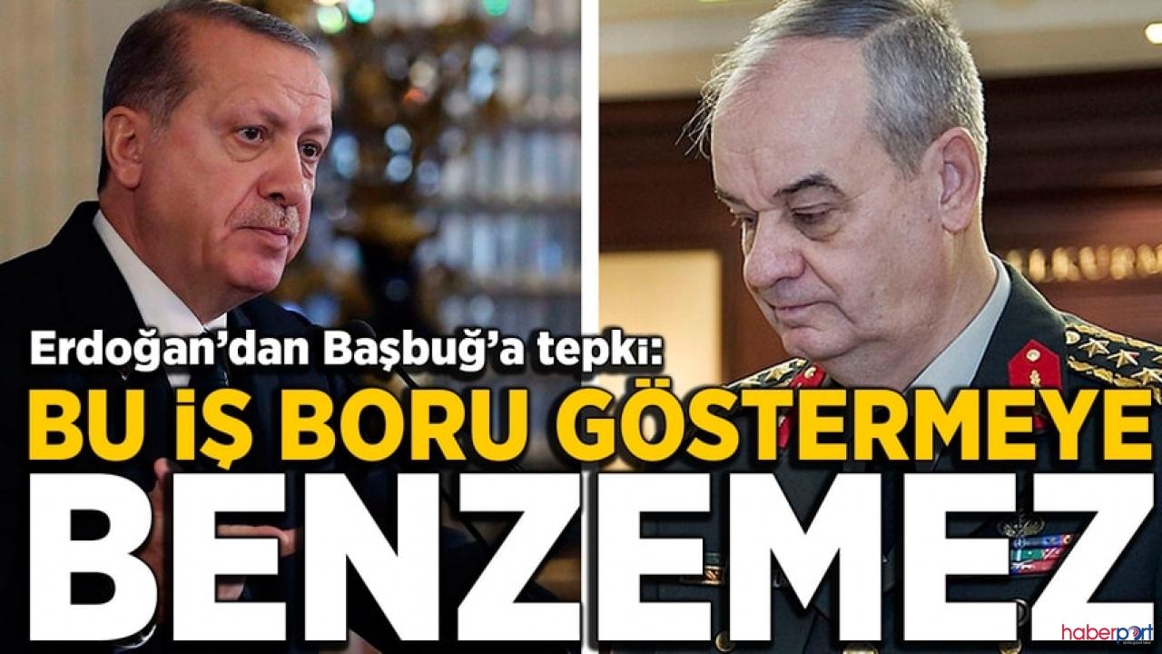 Cumhurbaşkanı Erdoğan'dan, İlker Başbuğ'a sert eleştiri; Mahkemeye verilmeli!