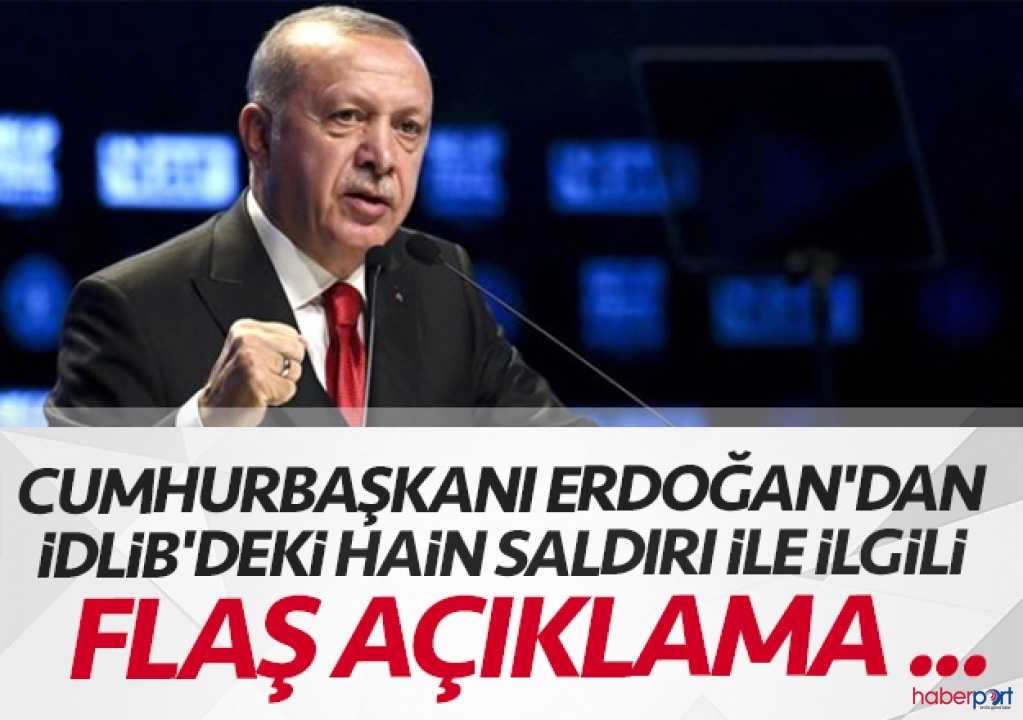 Cumhurbaşkanı Erdoğan, Suriye ve İdlib açıklaması için kameraların karşısına geçti
