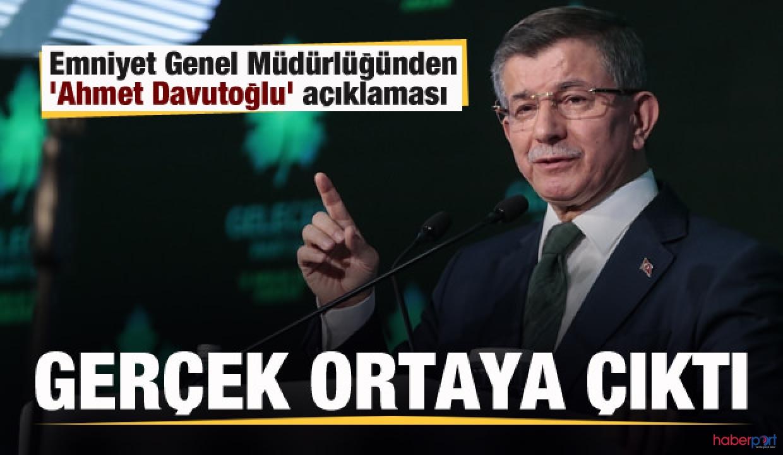 EGM, Ahmet Davutoğlu hakkındaki koruma kararı açıklık getirdi
