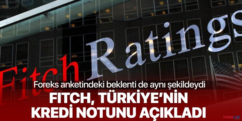 Fitch'ten Türkiye'ye iyi derecede kredi notu geldi