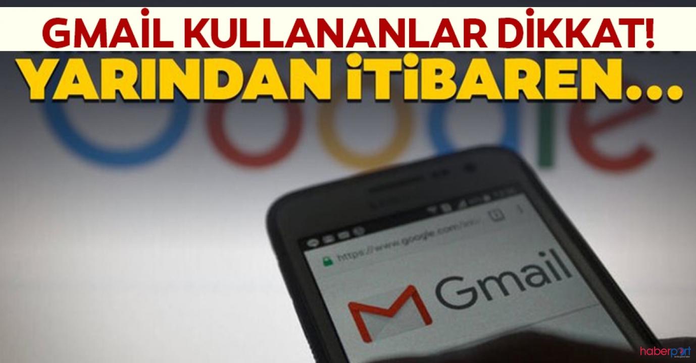 Gmail kullananlar dikkat! Yeni güncelleme geliyor