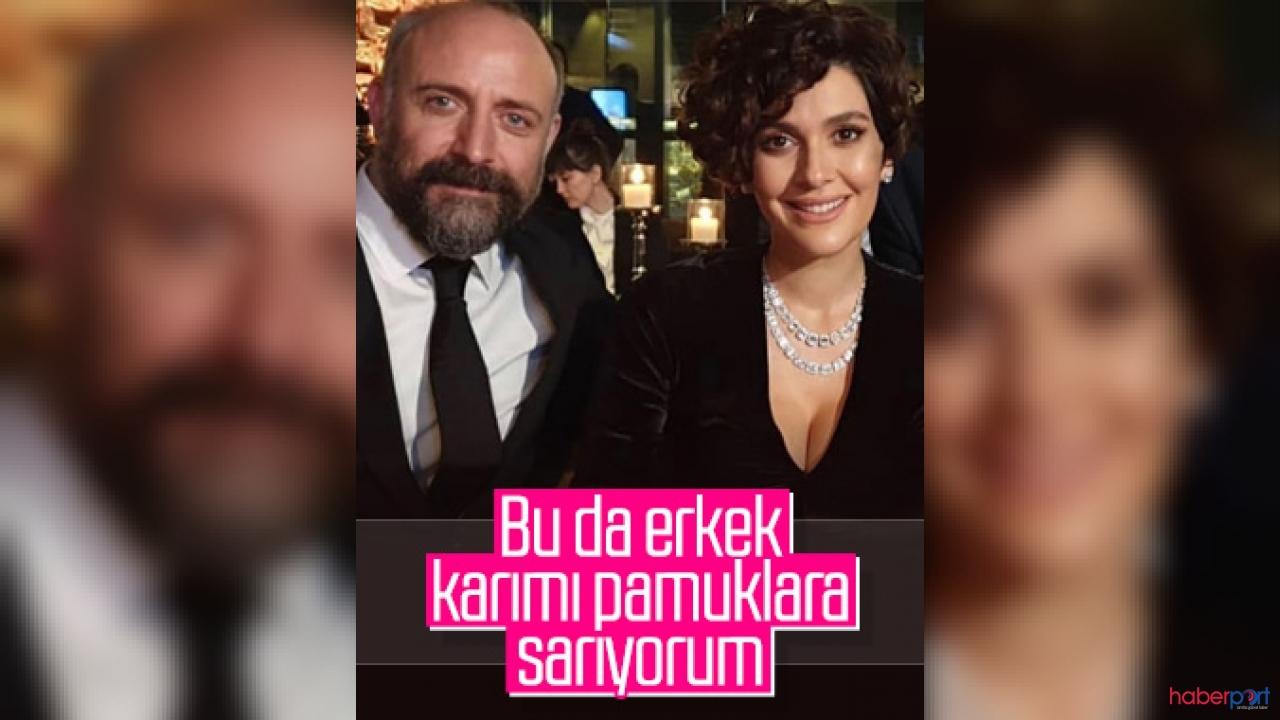 Halit Ergenç'ten eşi Bergüzar Korel'e yoğun ilgi