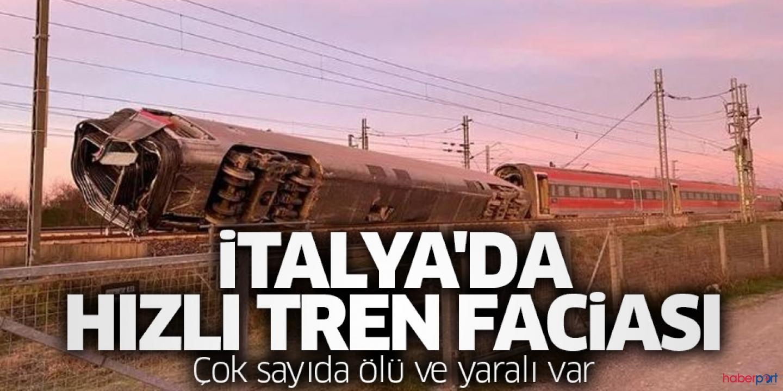 Hızlı tren raydan çıkarak devrildi! Ölü ve yaralılar var