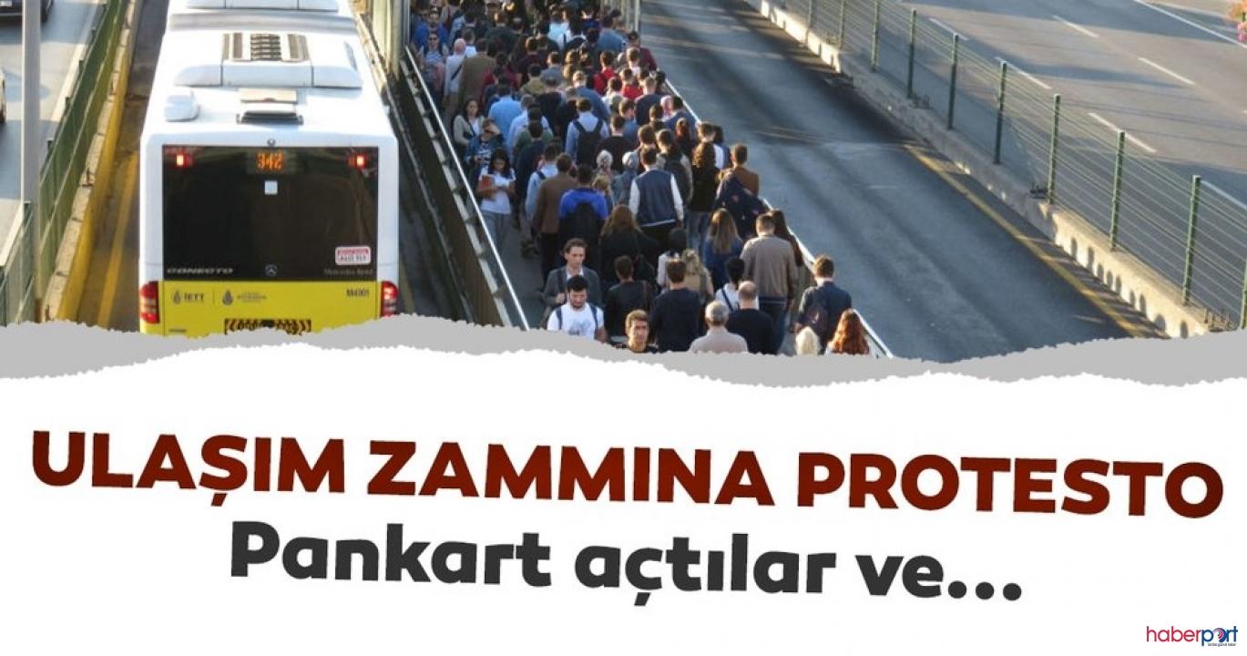 İBB'nin ulaşım zammı kararı protesto edildi