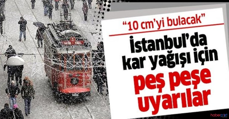 İstanbul'da kar alarmı! Hava sıcaklıkları 20 derece birden düşecek